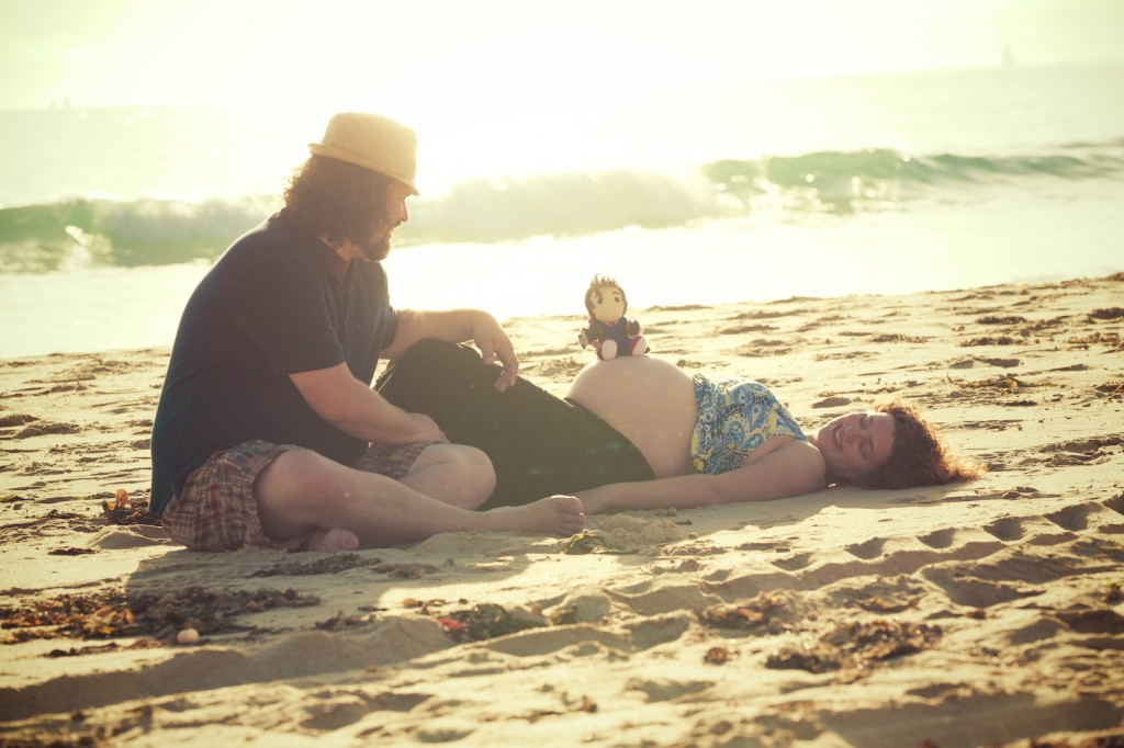 Family Maternity Shoot at  the beach